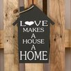 Factory4Home 2-tlg. Schild-Set HS-Love makes, Typographische Kunst in Schwarz