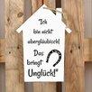 Factory4Home 2-tlg. Schild-Set HS-Ich bin nicht abergläubisch!, Typographische Kunst in Weiß