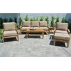 Willow Creek Designs Huntington 6 Piece Deep Seating Group with Cushion