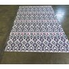 Arthouse Innovations Black and Purple Area Rug