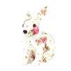 Teters Floral Decorative Floral Print Bunny