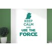 Cut It Out Wall Stickers Keep Calm and Use the Force Wall Sticker