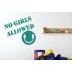 Cut It Out Wall Stickers No Girls Allowed Boys Headphones Room Sign Wall Sticker