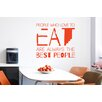 Cut It Out Wall Stickers Julia Child People Who Love to Eat Are Always the Best People Wall Sticker