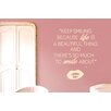 Cut It Out Wall Stickers Keep Smiling Because Life Is a Beautiful Thing Wall Sticker