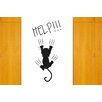 Cut It Out Wall Stickers Help Cat Falling Wall Sticker