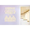 Cut It Out Wall Stickers Everybody Who Thinks Life Is Complicated Raise Your Hands Wall Sticker
