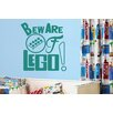 Cut It Out Wall Stickers Beware of Lego Wall Sticker