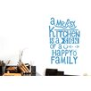 Cut It Out Wall Stickers A Messy Kitchen Is a Sign of a Happy Family Wall Sticker