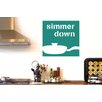Cut It Out Wall Stickers Simmer Down Wall Sticker
