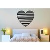Cut It Out Wall Stickers Striped Heart Wall Sticker