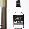Cut It Out Wall Stickers I'm Not Everyone's Cup of Tea I'm More of a Shot of Whiskey Wall Sticker