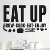 Cut It Out Wall Stickers Eat up Grow Cook Eat Enjoy Wall Sticker