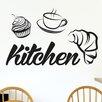 Cut It Out Wall Stickers Breakfast Kitchen Sign Wall Sticker