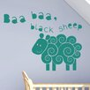 Cut It Out Wall Stickers Baa Baa Black Sheep Nursery Rhyme Wall Sticker