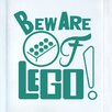Cut It Out Wall Stickers Beware of Lego Door Room Wall Sticker