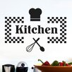 Cut It Out Wall Stickers Checkered Kitchen Sign Wall Sticker