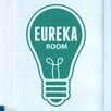 Cut It Out Wall Stickers Eureka Light Bulb Door Room Wall Sticker