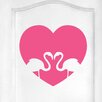 Cut It Out Wall Stickers Flamingo Love Heart Door Room Wall Sticker