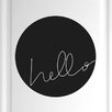 Cut It Out Wall Stickers Hello Within Circle Door Room Wall Sticker