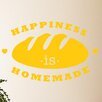 Cut It Out Wall Stickers Happiness Is Homemade Loaf of Bread Wall Sticker