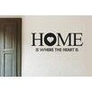 Cut It Out Wall Stickers Home Is Where The Heart Is Large Wall Sticker