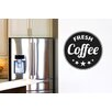 Cut It Out Wall Stickers Fresh Coffee Circle Wall Sticker