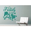Cut It Out Wall Stickers Our Family Is A Work Of Art Wall Sticker