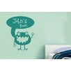 Cut It Out Wall Stickers Personalised Alien Kids Room Sign Wall Sticker