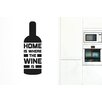 Cut It Out Wall Stickers Home Is Where The Wine Is Wine Bottle Wall Sticker
