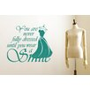 Cut It Out Wall Stickers You Are Never Fully Dressed Without A Smile Wall Sticker