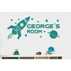 Cut It Out Wall Stickers Personalised Rocket Ship In Space Kids Room Sign Wall Sticker