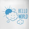 Cut It Out Wall Stickers Hello World Door Room Wall Sticker
