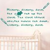 Cut It Out Wall Stickers Hickery Dickery Dock the Mouse Went up the Clock Nursery Rhyme Wall Sticker
