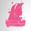 Cut It Out Wall Stickers Personalised Cute Girls Sign Door Room Wall Sticker