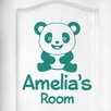 Cut It Out Wall Stickers Personalised Cute Panda Kids Door Room Wall Sticker