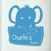 Cut It Out Wall Stickers Personalised Elephant Holding Sign Kids Door Room Wall Sticker