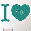 Cut It Out Wall Stickers I Love Food Wall Sticker