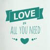 Cut It Out Wall Stickers Love Is All You Need Three Small Hearts Door Room Wall Sticker