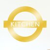 Cut It Out Wall Stickers London Underground Inspired Kitchen Sign Wall Sticker