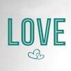 Cut It Out Wall Stickers Love Two Interlocking Hearts Door Room Wall Sticker