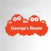 Cut It Out Wall Stickers Personalised Monster Kids Door Room Wall Sticker