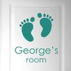 Cut It Out Wall Stickers Personalised Name Babies Birth Footprints Door Room Wall Sticker