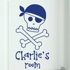 Cut It Out Wall Stickers Personalised Pirate Skull and Bones Door Room Wall Sticker