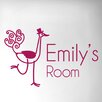 Cut It Out Wall Stickers Personalised Ostrich Door Room Wall Sticker