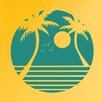 Cut It Out Wall Stickers Palm Trees With Sunset Wall Sticker