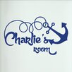 Cut It Out Wall Stickers Personalised Ship Anchor Kids Door Room Wall Sticker