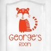 Cut It Out Wall Stickers Personalised Tiger Kids Door Room Wall Sticker