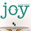 Cut It Out Wall Stickers Joy Is All Around Us Wall Sticker