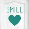 Cut It Out Wall Stickers Smile with Heart Door Room Wall Sticker